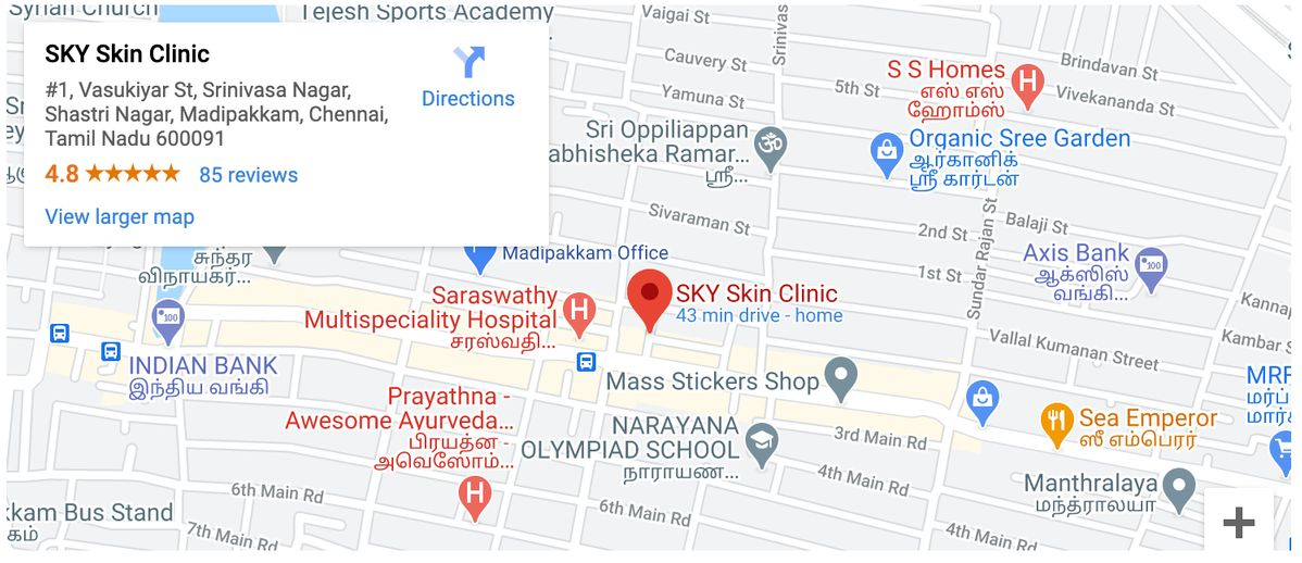 Best skin clinic in Madipakkam Chennai